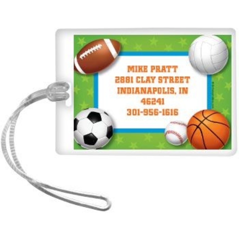 View larger image of Sports Party Personalized Luggage Tag (each)