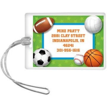 Sports Party Personalized Luggage Tag (each)