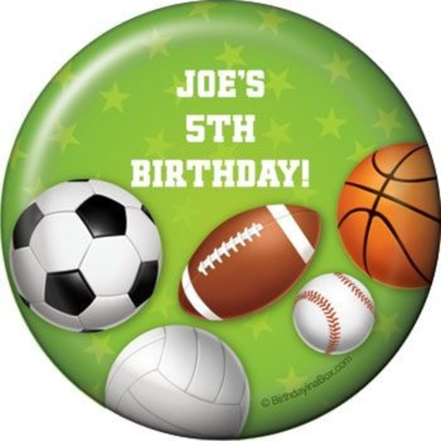 View larger image of Sports Party Personalized Magnet (each)