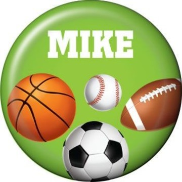 Sports Party Personalized Mini Magnet (each)