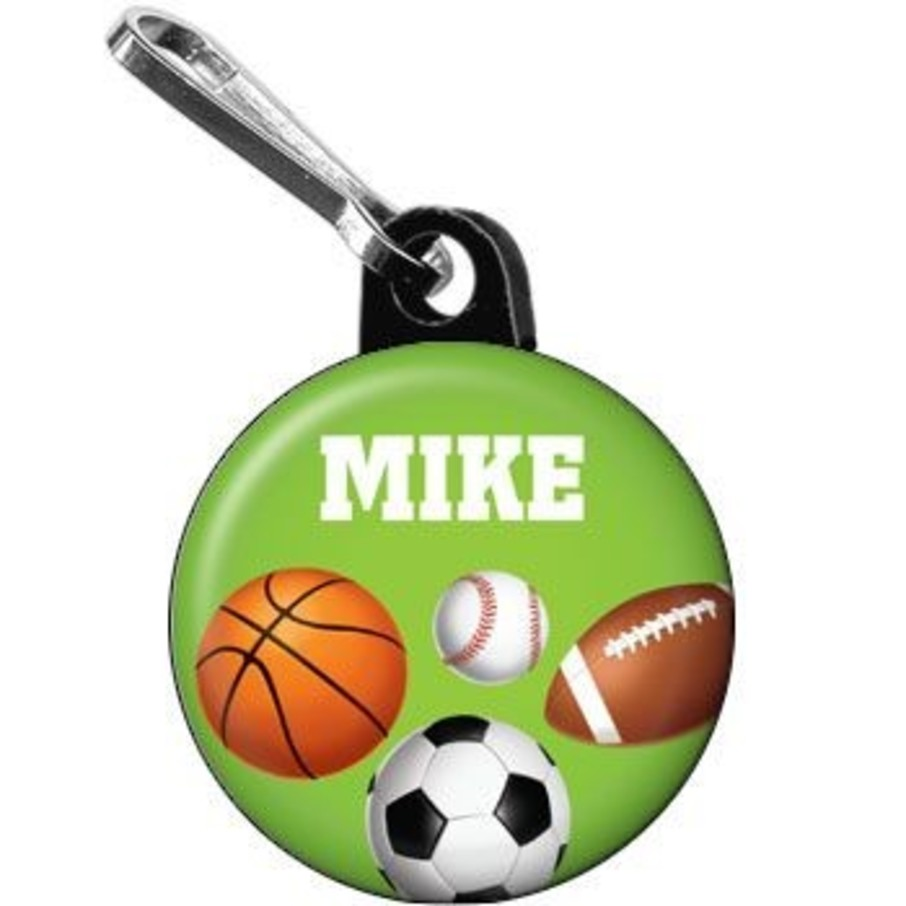 View larger image of Sports Party Personalized Mini Zipper Pull (each)