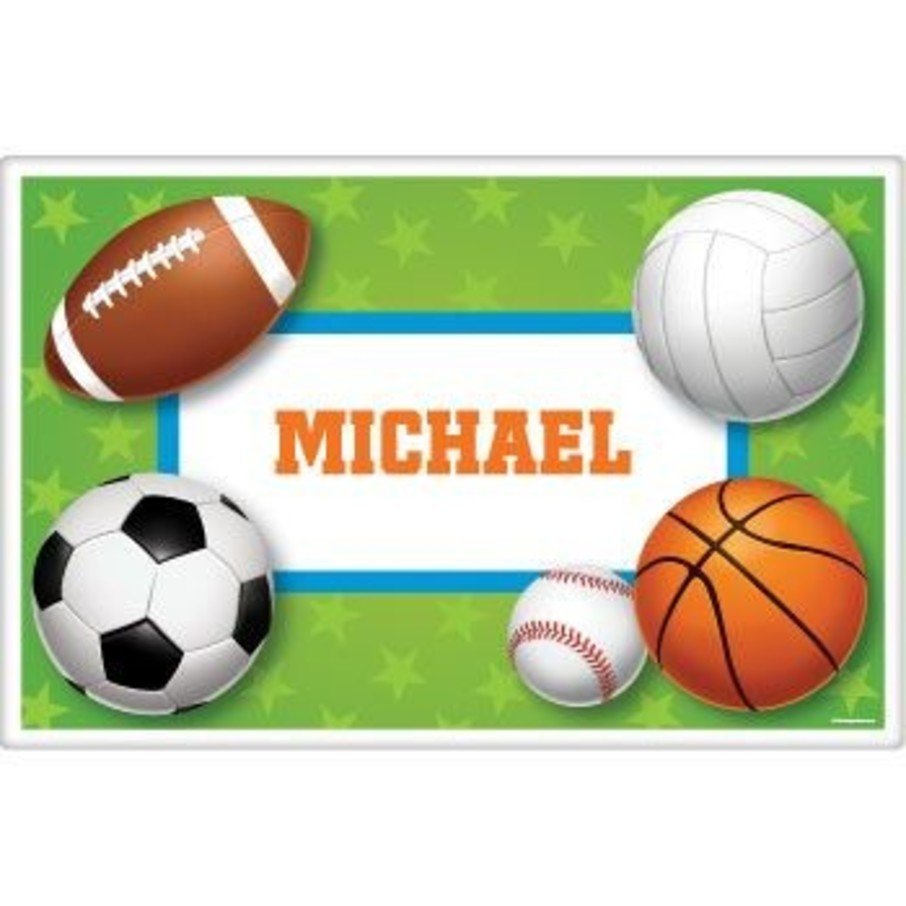 View larger image of Sports Party Personalized Placemat (each)