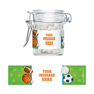 Sports Party Personalized Swing Top Apothecary Jars (12 ct)