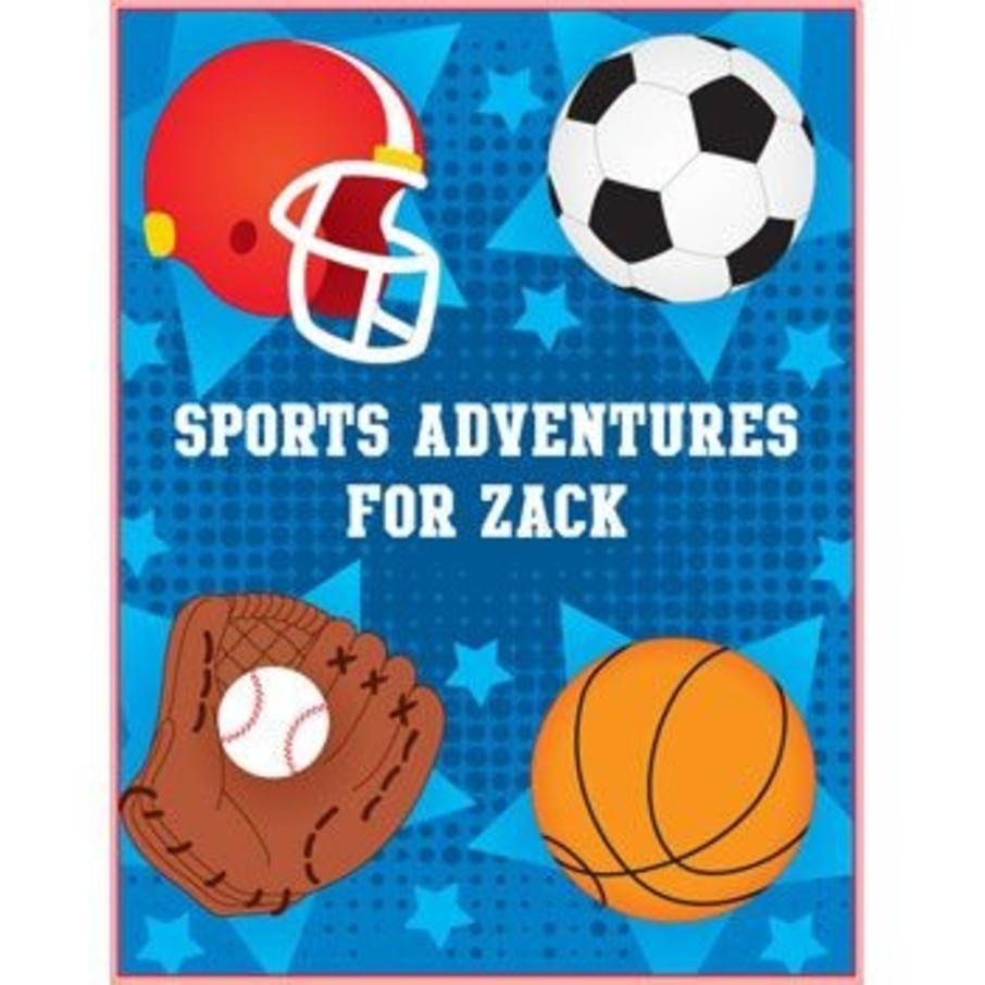 View larger image of Sports Personalized Coloring Book (each)