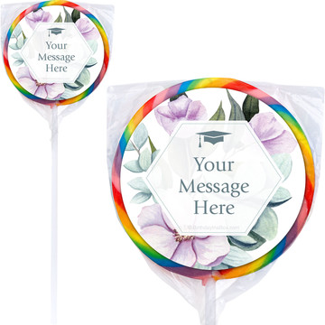 "Spring to Success Personalized 3"" Lollipops (12 Pack)"