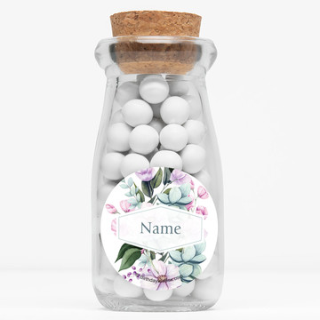 "Spring to Success Personalized 4"" Glass Milk Jars (12 Count)"