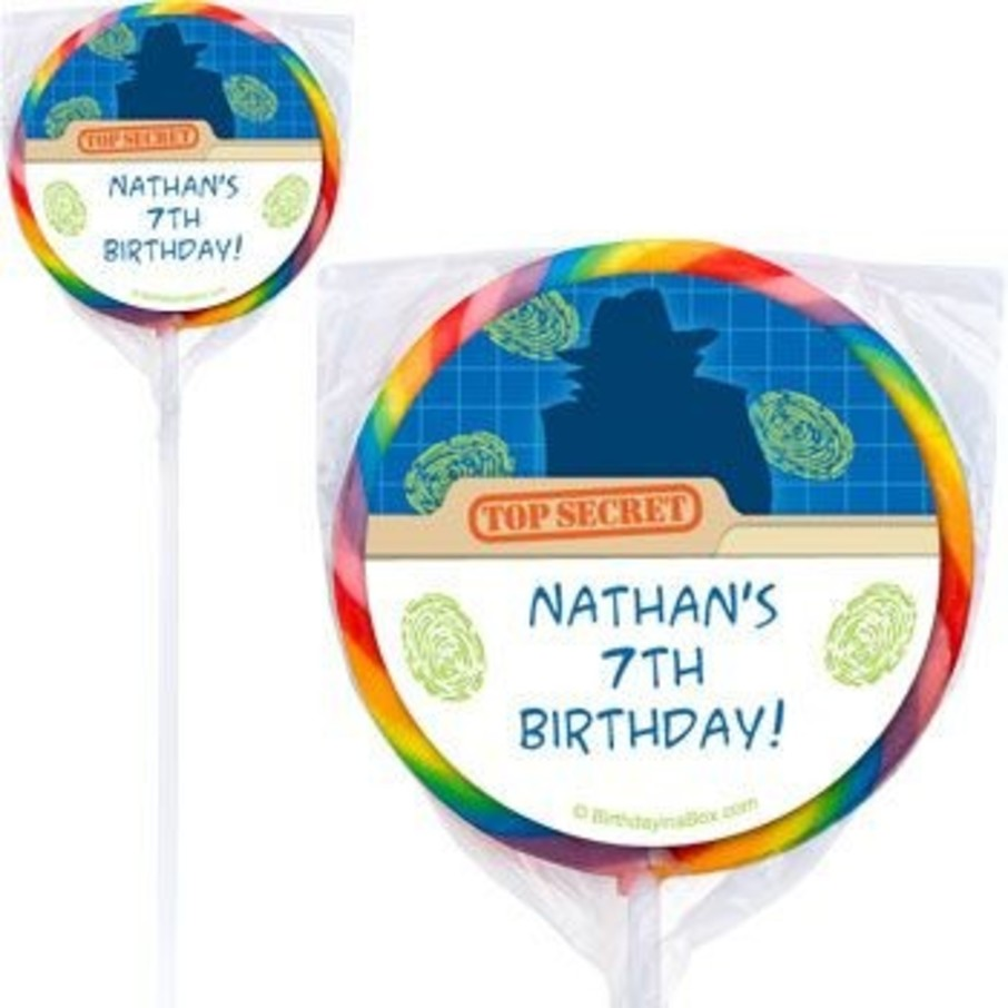 View larger image of Spy Party Personalized Lollipops (pack of 12)