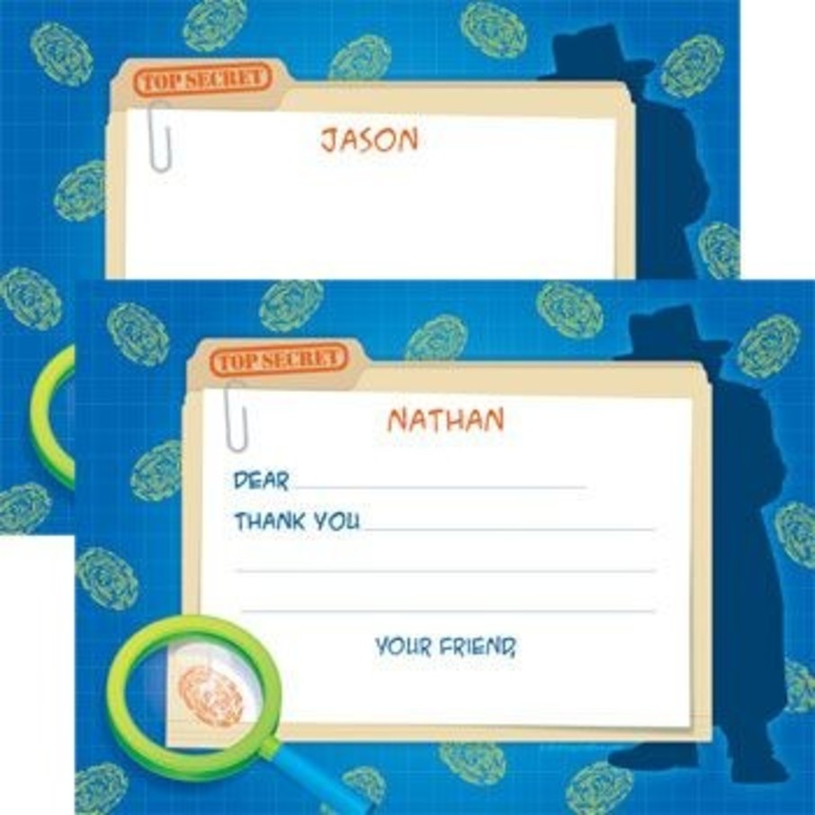 View larger image of Spy Party Personalized Thank You Note (each)