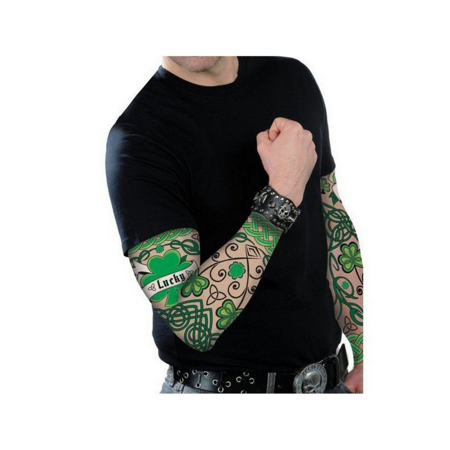 View larger image of St Patrick's Day Adult Arm Tattoo Sleeves