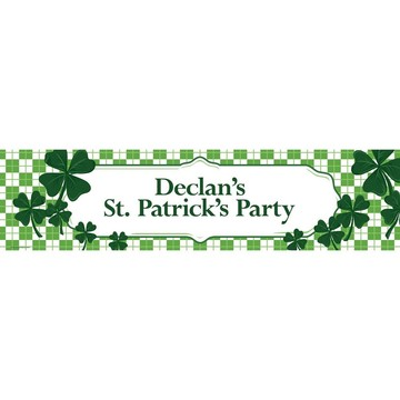 St. Patrick's Day Personalized Banner (Each)
