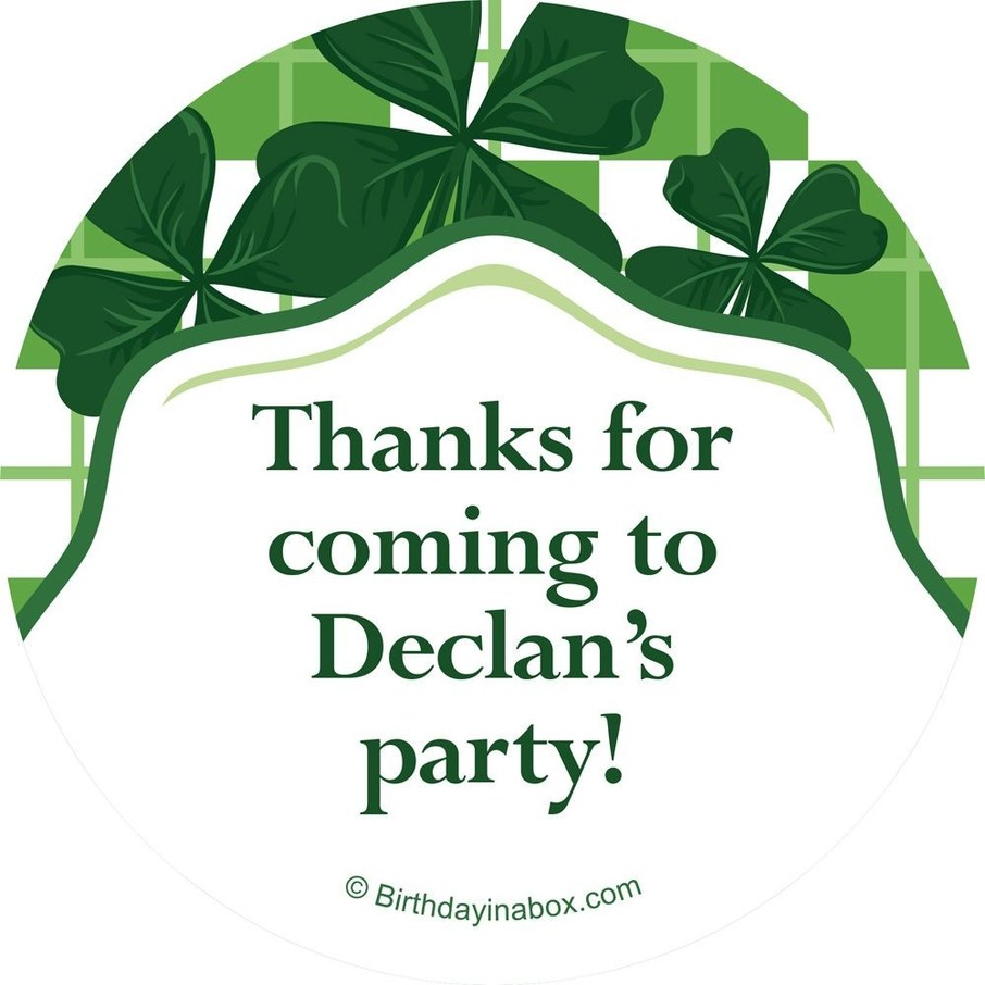View larger image of St. Patrick's Day Personalized Stickers (Each)