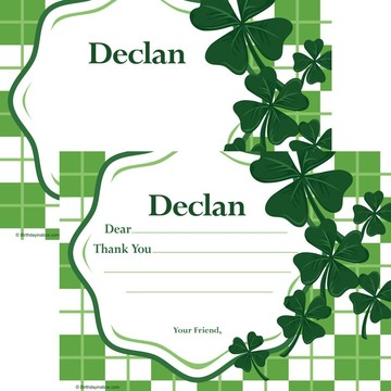 St. Patrick's Day Personalized Thank You Note (Each)