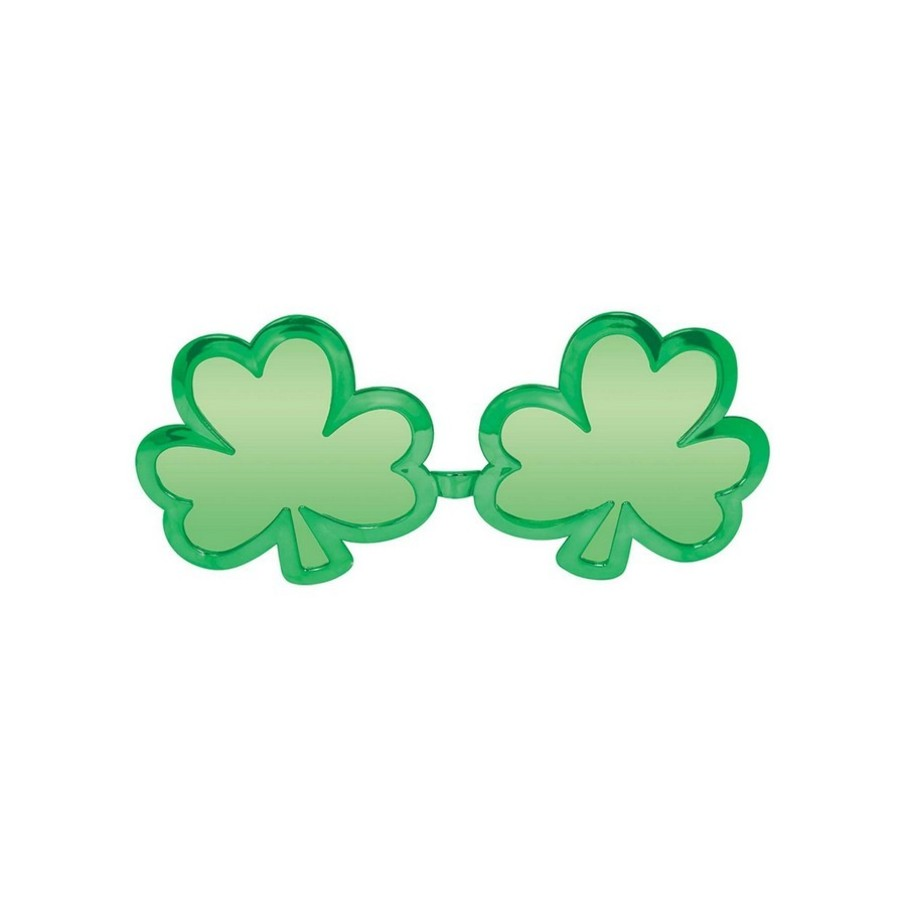 View larger image of St. Patrick's Day Shamrock Shaped Sunglasses