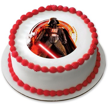 "Star Wars Darth Vader 7.5"" Round Edible Cake Topper (Each)"