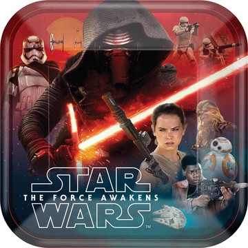 "Star Wars EP Vll 9"" Luncheon Plate (8 Count)"