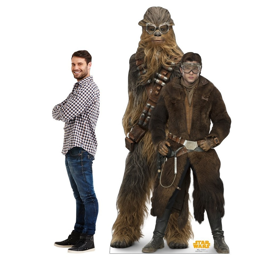 View larger image of Star Wars Han Solo and Chewbacca Cardboard Standee
