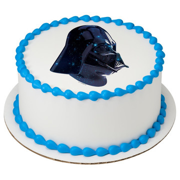 """Star Wars-Vader Galaxy 7.5"""" Round Edible Cake Topper (Each)"""