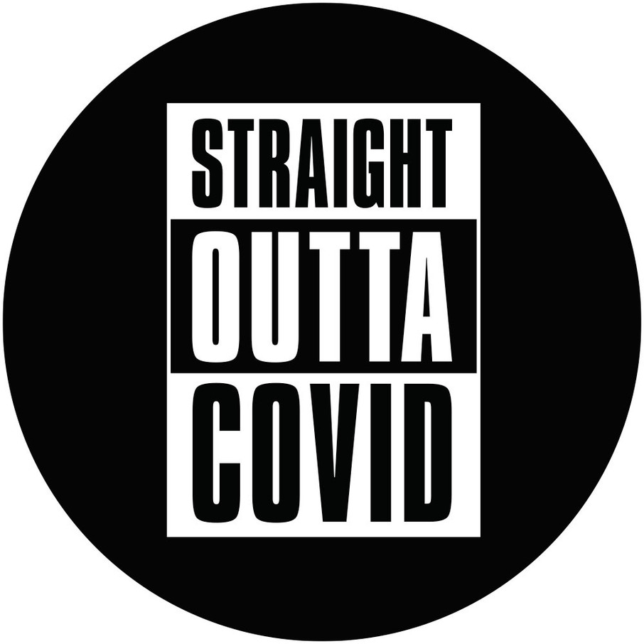 View larger image of Straight Outta Covid Party Stickers (Sheet of 12)