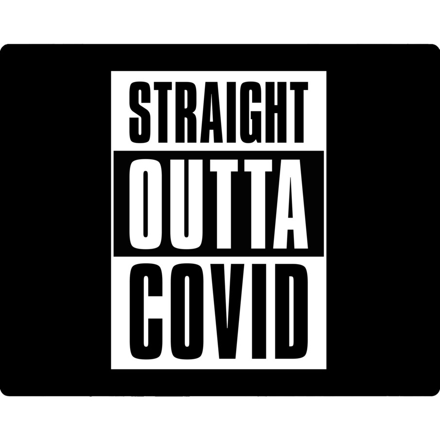 View larger image of Straight Outta Covid Party Stickers (Sheet of 15)
