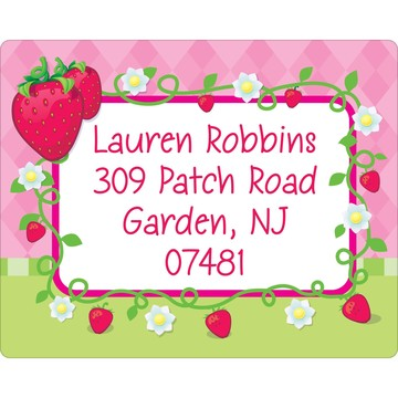 Strawberry Friends Personalized Address Labels (Sheet of 15)