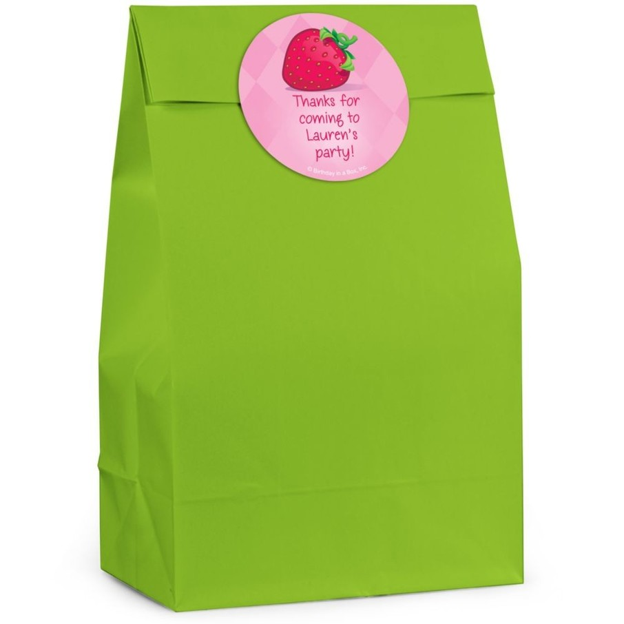 View larger image of Strawberry Friends Personalized Favor Bag (Set Of 12)