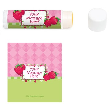 Strawberry Friends Personalized Lip Balm (12 Pack)