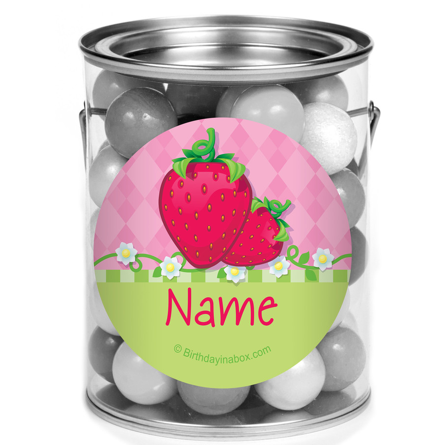 View larger image of Strawberry Friends Personalized Mini Paint Cans (12 Count)