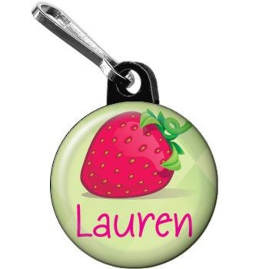 View larger image of Strawberry Friends Personalized Mini Zipper Pull (each)