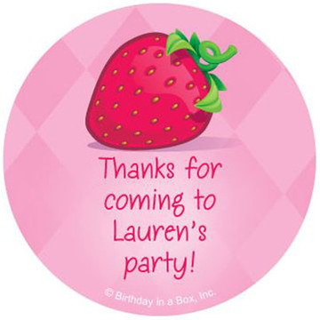 Strawberry Friends Personalized Stickers (sheet of 12)