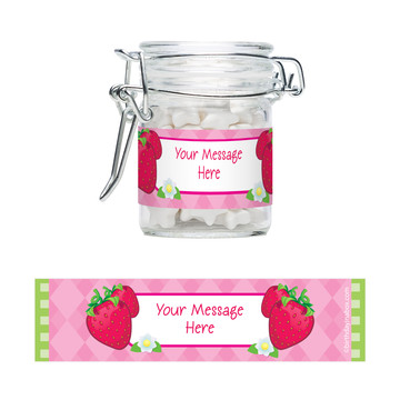 Strawberry Friends Personalized Swing Top Apothecary Jars (12 ct)