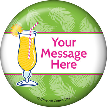 Summer Drinks Personalized Button (Each)