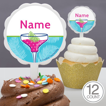 Summer Drinks Personalized Cupcake Picks (12 Count)