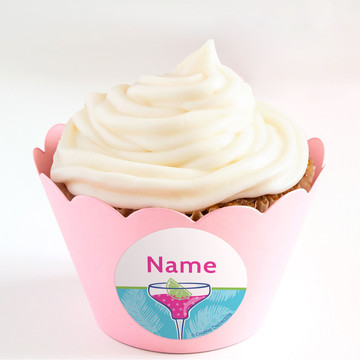 Summer Drinks Personalized Cupcake Wrappers (Set of 24)