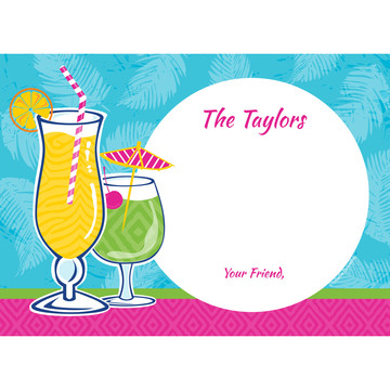 Summer Drinks Personalized Thank You (Each)