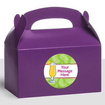 Summer Drinks Personalized Treat Favor Boxes (12 Count)