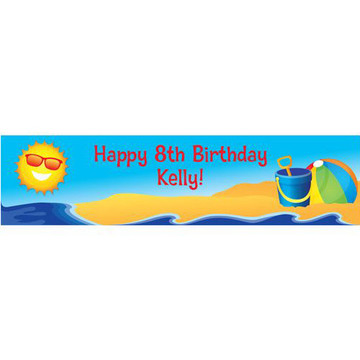 Summer Fun Personalized Banner (each)