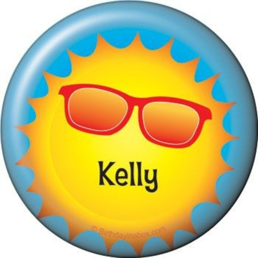 View larger image of Summer Fun Personalized Button (each)