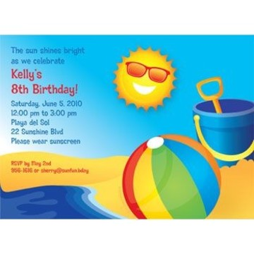 Summer Fun Personalized Invitation (each)