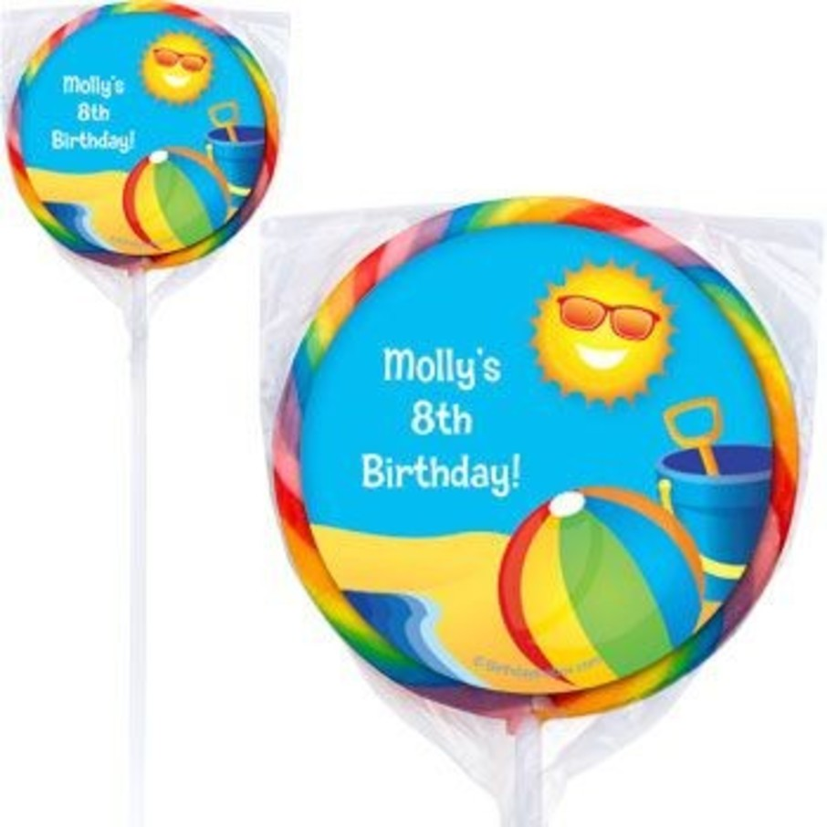 View larger image of Summer Fun Personalized Lollipops (pack of 12)