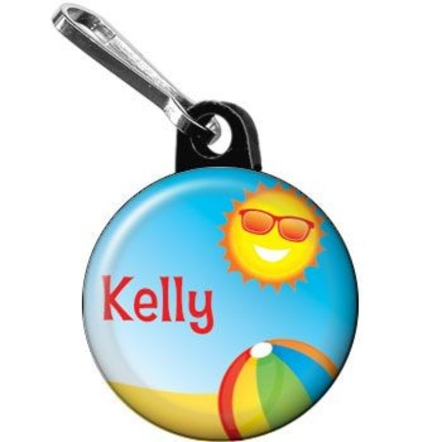 View larger image of Summer Fun Personalized Mini Zipper Pull (each)