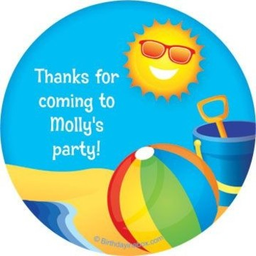 Summer Fun Personalized Stickers (sheet of 12)