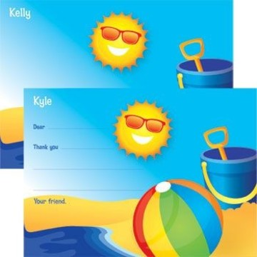 Summer Fun Personalized Thank You Note (each)