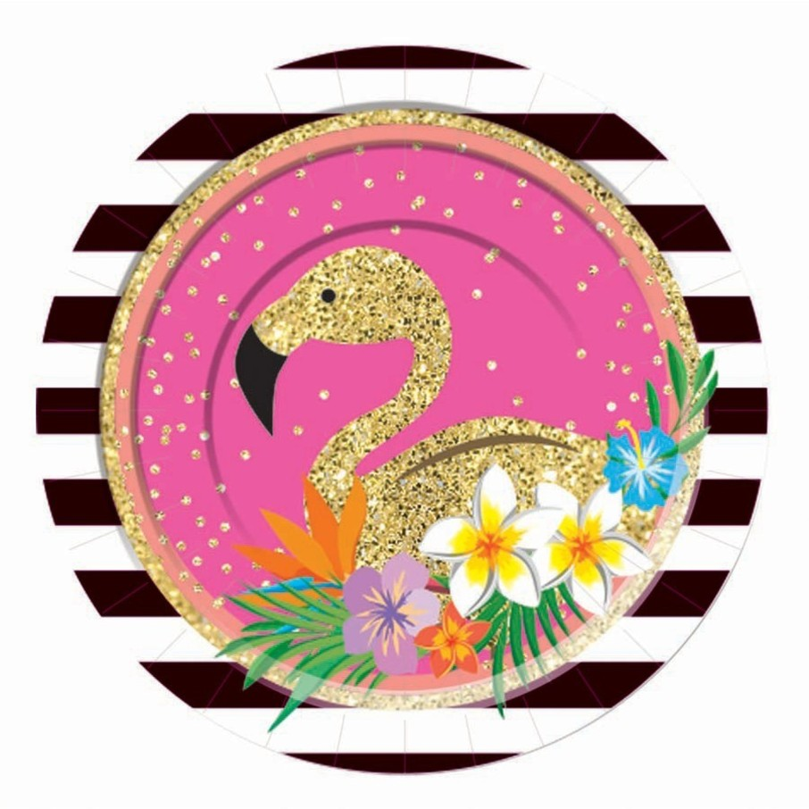 """View larger image of Summer Paradise Sparkle 7"""" Dessert Plate (8)"""