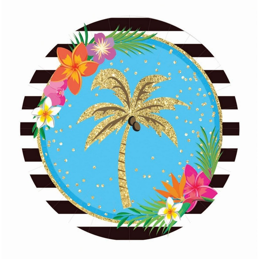 """View larger image of Summer Paradise Sparkle 9"""" Lunch Plate (8)"""