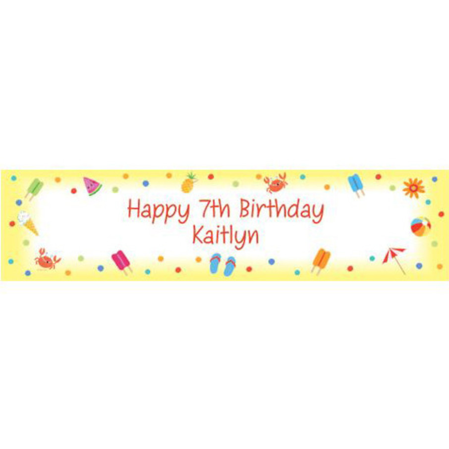 View larger image of Summer Treats Personalized Banner (each)