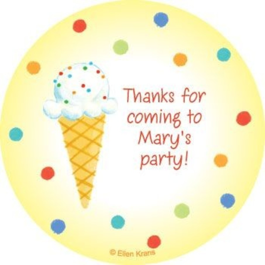 View larger image of Summer Treats Personalized Stickers (sheet of 12)