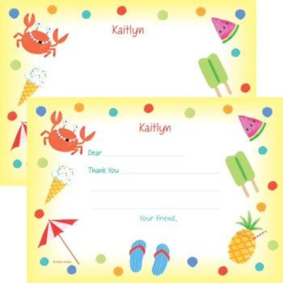View larger image of Summer Treats Personalized Thank You Note (each)