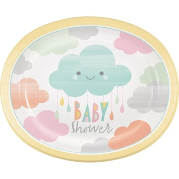 Sunshine Baby Showers Oval Banquet Plate (8)