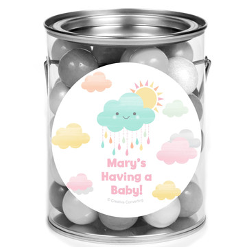 Sunshine Showers Personalized Mini Paint Cans (12 Count)
