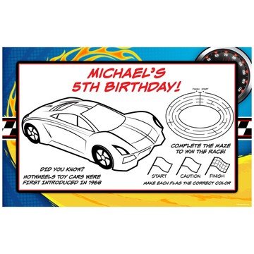Super Charged Personalized Activity Mats (8-Pack)
